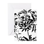 Transparent flowers Greeting Cards