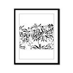 Transparent flowers Framed Panel Print