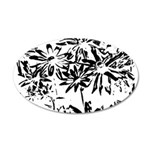 Transparent flowers Wall Decal