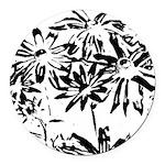 Transparent flowers Round Car Magnet