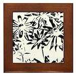 Transparent flowers Framed Tile