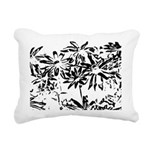 Transparent flowers Rectangular Canvas Pillow