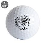 Transparent flowers Golf Ball