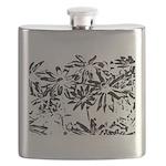 Transparent flowers Flask