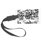 Transparent flowers Luggage Tag