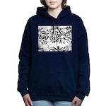 Transparent flowers Women's Hooded Sweatshirt