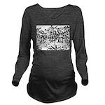 Transparent flowers Long Sleeve Maternity T-Shirt