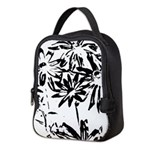 Transparent flowers Neoprene Lunch Bag