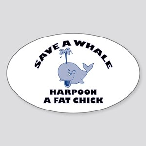 Save a Whale Oval Sticker