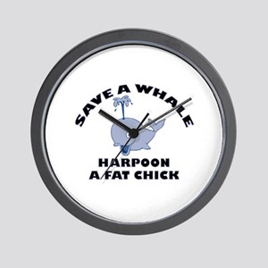 Save a Whale Wall Clock