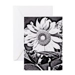 Sunflower at night Greeting Cards