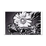Sunflower at night Rectangle Car Magnet