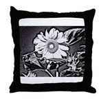Sunflower at night Throw Pillow