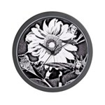Sunflower at night Wall Clock