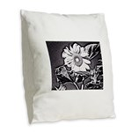 Sunflower at night Burlap Throw Pillow