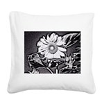 Sunflower at night Square Canvas Pillow
