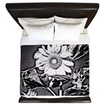Sunflower at night King Duvet