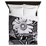 Sunflower at night Queen Duvet