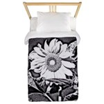 Sunflower at night Twin Duvet
