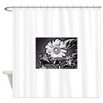 Sunflower at night Shower Curtain