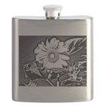 Sunflower at night Flask