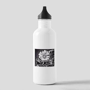 Sunflower at night Water Bottle