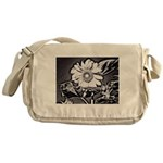Sunflower at night Messenger Bag