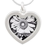 Sunflower at night Necklaces