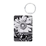 Sunflower at night Keychains