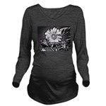 Sunflower at night Long Sleeve Maternity T-Shirt