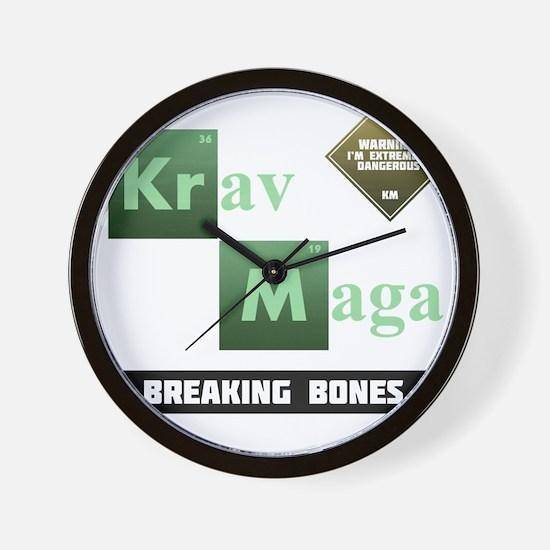 Krav Maga Elements - Breaking Bones Wall Clock