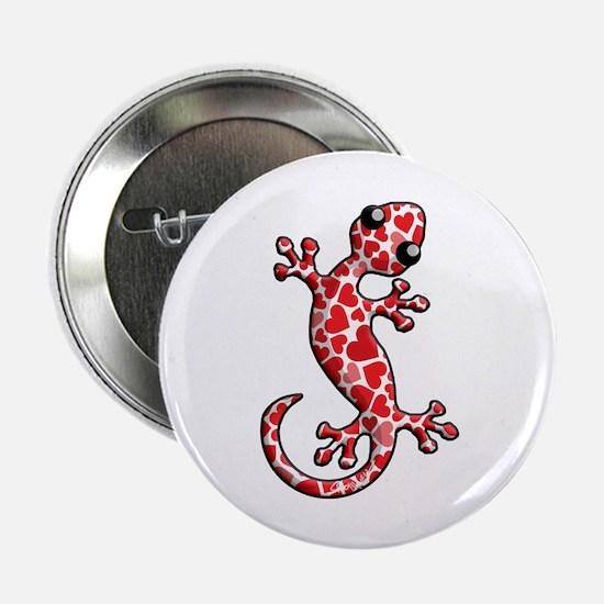 """Valentine Lizard 2.25"""" Button"""