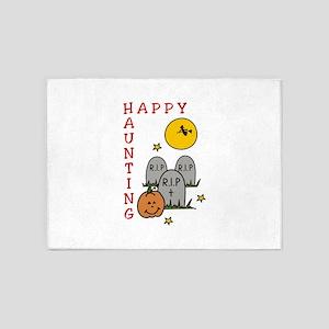 Happy Haunting! 5'x7'Area Rug