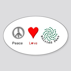 Peace Whirled Peas Sticker (Oval)