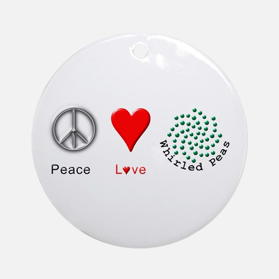 Peace Whirled Peas Ornament (Round)