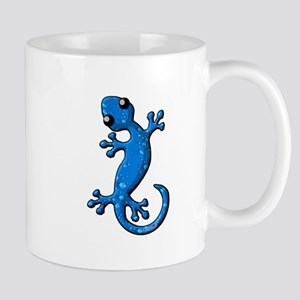 Blue Rain Lizard Mug