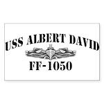 USS ALBERT DAVID Sticker (Rectangle)