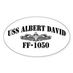 USS ALBERT DAVID Sticker (Oval 10 pk)