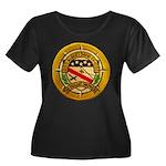 USS ALBE Women's Plus Size Scoop Neck Dark T-Shirt