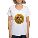 USS ALBERT DAVID Women's V-Neck T-Shirt
