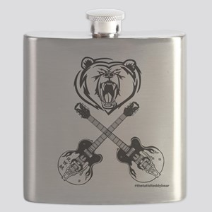 Ryanwhytemaloney Bear With Guitars Flask