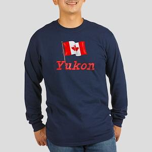 Canada Flag - Yukon Territory Long Sleeve Dark T-S