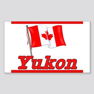 Canada Flag - Yukon Territory Sticker (Rectangular
