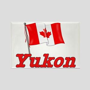 Canada Flag - Yukon Territory Rectangle Magnet