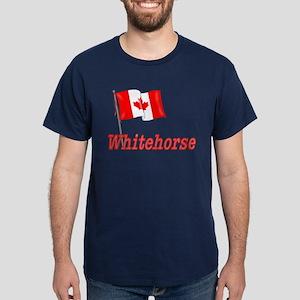 Canada Flag - Whitehorse  Dark T-Shirt
