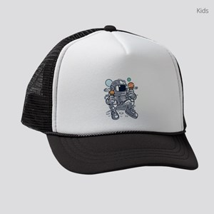 Astronaut With Ice Cream Kids Trucker hat