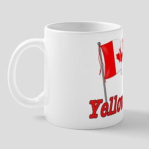 Canada Flag - Yellowknife Text Mug