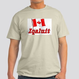 Canada Flag - Iqaluit Text Light T-Shirt