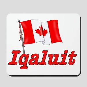 Canada Flag - Iqaluit Text Mousepad