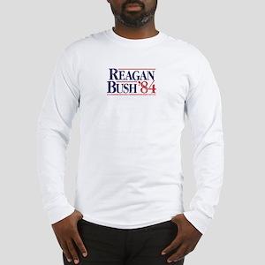 Reagan84-tee WHT Long Sleeve T-Shirt